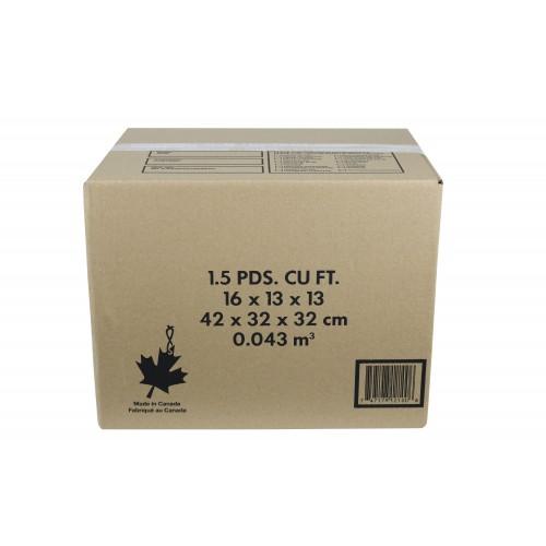 "1.5 Cu./FT Box; 16"" x 13"" x 13""; 15/Bundle, 240/Skid"