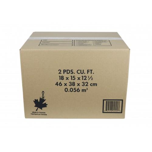 "2.0 Cu./FT Box; 18"" x 15"" x 12""; 15/Bundle, 240/Skid"