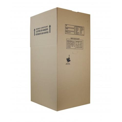 """Standard Wardrobe Box; 24"""" x 21"""" x 48"""", DW, 80/Skid"""