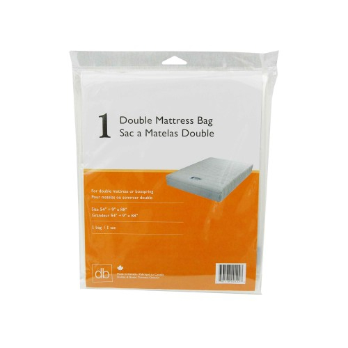 "Double Mattress Cover Packaged; 54"" x 9"" x 88"", 3MIL, 10BG/Case"
