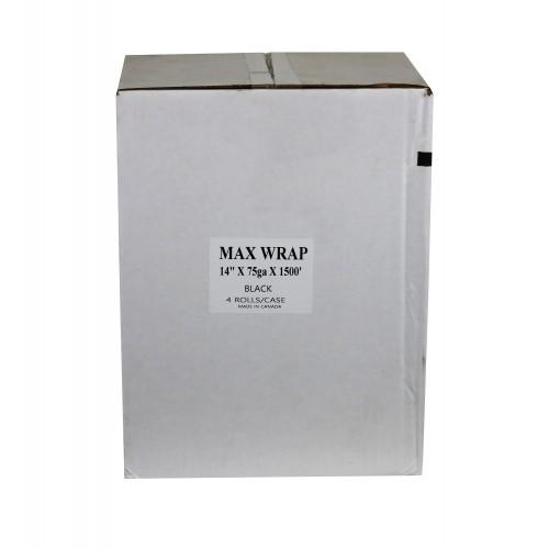 """Stretchwrap - Black; 14"""" x 1500', Eq. 80g, 4RL/Case"""