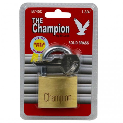 Champion Brass Lock - 45mm; 6/Box (RETAIL PKGD)