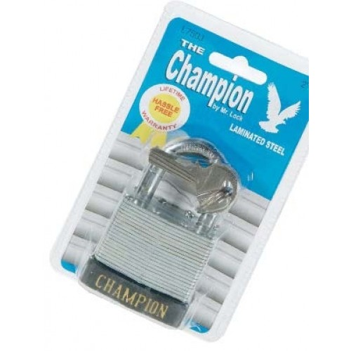 Champion Steel Lock - 50mm; 6/Box (RETAIL PKGD)