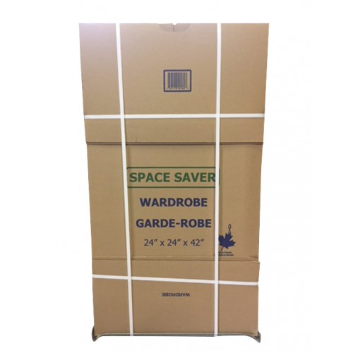 "Space Saver Wardrobe box w/ Bar; 24"" x 24"" x 42"", 75/Skid"