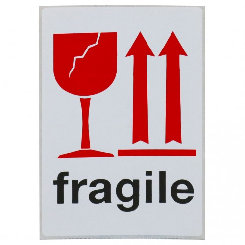 "Fragile Labels 4"" x 6"", 12/PK (RETAIL PKGD)"