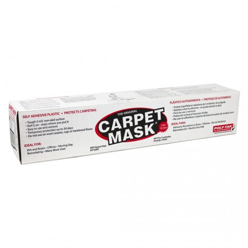 "Carpet Mask; Clear Protective Adhesive Film 24"" x 50'"