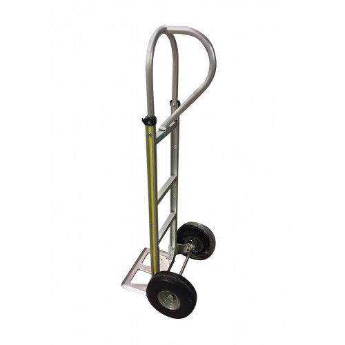 "Aluminum P-Handle Handtruck, 10"" Air Tires"