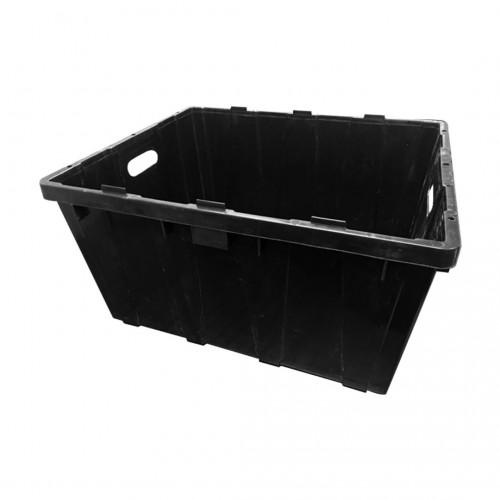 """Plastic Bin Box; 23.5"""" x 19"""" x 12"""" (Black)"""