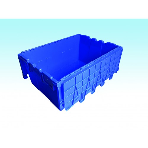 "Blue Hinged Box (21.5"" x 14.75"" x 12"")"