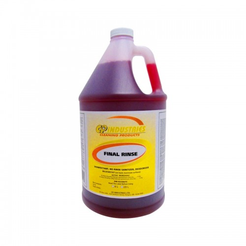 Final Rinse Disinfectant and Sanitizer Concentrate (4L) - Case of 4