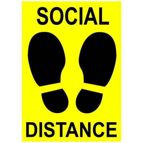 SOCIAL DISTANCING LABEL - 7X10; Vinyl; Gloss